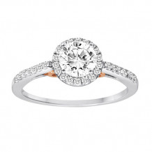 Simply Diamond 14k White and Rose Gold 0.50ct Diamond Engagement Ring - RGO2702-TT4C-IN_MB
