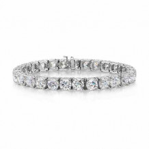 GN Diamond 14k White Gold 3.19ct Diamond Tennis Bracelet - U100300AW-137760