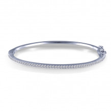 Lafonn Stackables Sterling Silver Simulated Diamond Bracelet