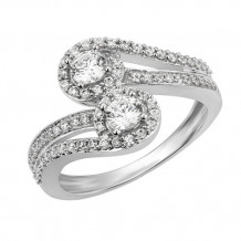 Simply Diamonds 14k White Gold 0.75ct Diamond Engagement Ring - RGO5461-W4W-IN_MB