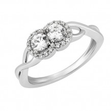 Simply Diamonds 14k White Gold 0.50ct Diamond Engagement Ring - RGO5463-W4W-IN_MB