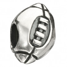 Sterling Silver Chamilia Football Bead Charm