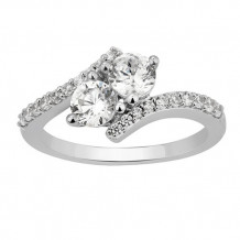 Simply Diamonds 14k White Gold 1.5ct Diamond Engagement Ring - RGO5729-W4W-IN_MB