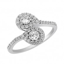 14K White Gold 0.50ct Diamond Engagement Ring