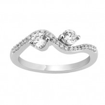 Simply Diamonds 14k White Gold 0.50ct Diamond Engagement Ring - RGO5464-W4W-IN_MB