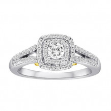 14K White and Yellow Gold 0.50ct Diamond Engagement Ring
