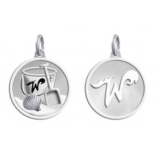 Sterling Silver Custom Designed NEW Wildwood Enameled Pail and Shovel Charm