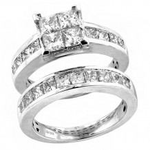 14K White Gold 2.00ct Diamond Bridal Set