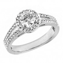 Simply Diamonds 14k White Gold 1.00ct Diamond Engagement Ring - RGO1804-W4W-IN_MB_MB