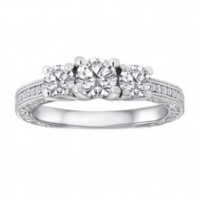 Simply Diamonds 14k White Gold 0.25ct Diamond Engagement Ring - RGO3573-W4C-IN_MB
