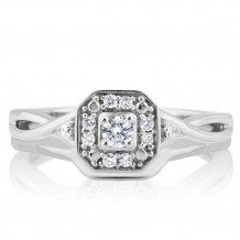 10K White Gold 0.2ct Diamond Bridal Set