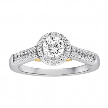 Simply Diamonds 14k White and Yellow Gold 0.75ct Diamond Engagement Ring - RGO3000-TT4C-IN_MB