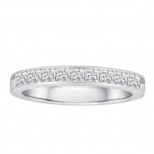 14K White Gold 1ct Diamond Wedding Band