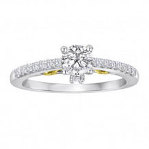 Simply Diamonds 14k White and Yellow Gold 0.75ct Diamond Engagement Ring - RGO2754-TT4C_MB