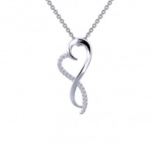 Lafonn Classic Sterling Silver Simulated Diamond Necklace
