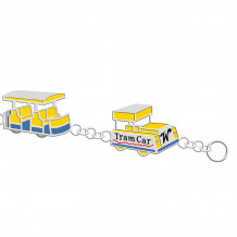 Sterling silver custom designed NEW Wildwood Enameled Tram Car Bracelet - 0000002