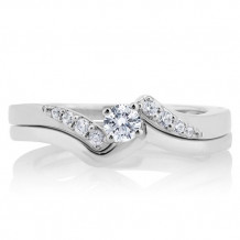 10K White Gold 0.25ct Diamond Bridal Set