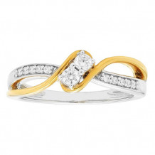 Simply Diamonds 14k White and Yellow Gold 0.20ct Diamond Engagement Ring - RGO5543-WY4W-IN_MB