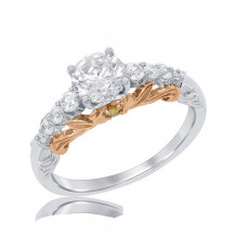 Simply Diamonds 14k White and Rose Gold 1.5ct diamond with Citrine accent Engagement Ring - RGO5877-W4CWCTDSIN_MB