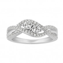 Simply Diamonds 14k White Gold .38ct Diamond Engagement Ring - RGO5476-W4W-IN_MB