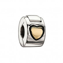 Sterling Silver and Gold Chamilia Lock Bead Charm