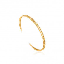 Ania Haie Luxe Minimalism 14k Two Tone Gold and Sterling Silver Cuff Bracelet