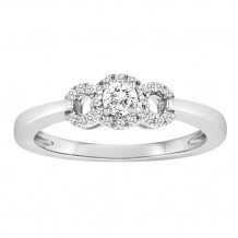 14K White Gold 0.50ct Diamond Semi-Mount Engagement Ring