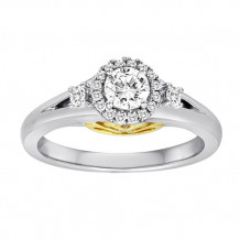 Simply Diamonds 14k White and Yellow Gold 0.50ct Diamond Engagement Ring