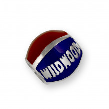 Wildwood Destination Enameled Beach Ball Bead