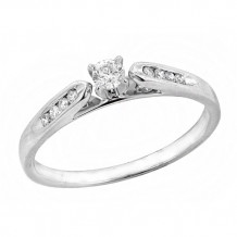 14K White Gold 0.20ct Diamond Promise Ring