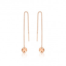 Ania Haie Texture Mix ,Rose Gold ToneWhite,Rose Drop Earrings