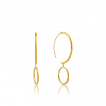 Ania Haie All Ears Gold Tone Hoop Earrings