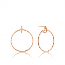 Ania Haie All Ears Rose Gold Tone Hoop Earrings