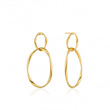 Ania Haie Twister Gold Tone Hoop Earrings
