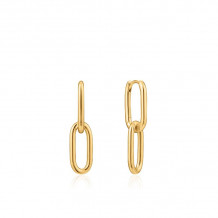 Ania Haie Chain Reaction 14k Two Tone Gold and Sterling Silver Earrings