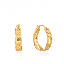 Ania Haie Chain Reaction 14k Two Tone Gold and Sterling Silver Hoop Earrings