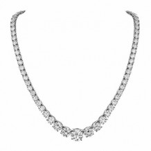 GN Diamond 18 Inch Graduated 9.36ct Diamond Necklace - N100900BW