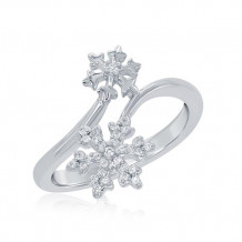 Simply Diamonds Sterling Silver Enchanted Disney Snowflake Fashion Ring