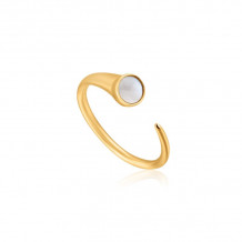 Ania Haie Hidden Gem 14k Two Tone Gold and Sterling Silver Pearl Ring