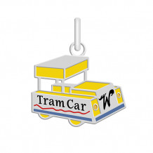 Sterling silver custom designed NEW Wildwood Enameled Mr. Tram Car Pendant - 0000003
