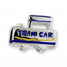 Wildwood Destination Enameled Tram Car - Enameled Tram Car Charm